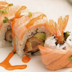 Saumon mi-cuit roll